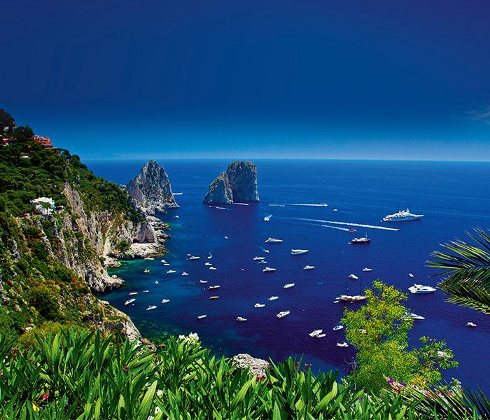 Capri's dramatic faraglioni rocks