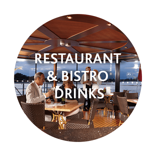You can spend your credit on drinks in the restaurant and bistro