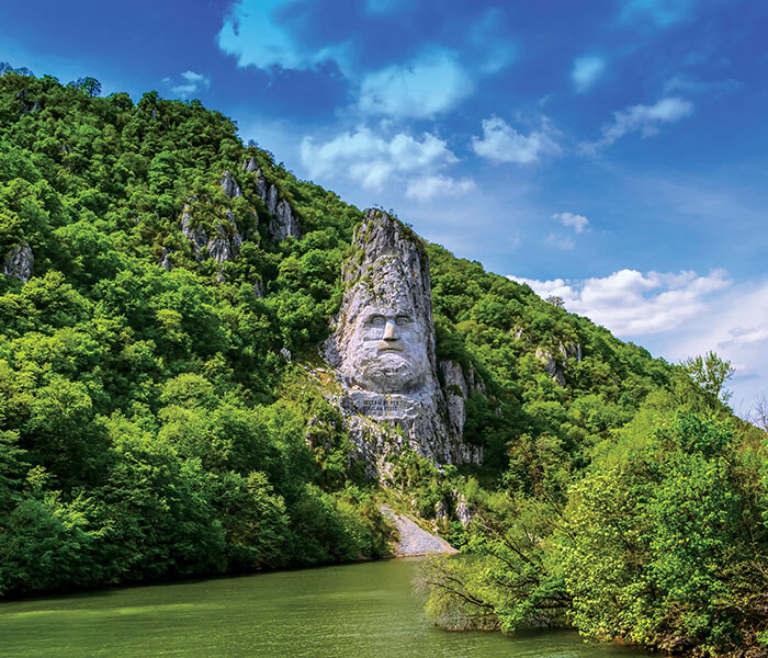 Rock Sculpture of Decebalus on the Danube river | River Cruises in August 2019