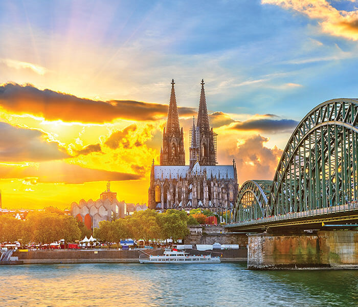 Cologne Cathedral and Bridge | River Cruises in July 2019