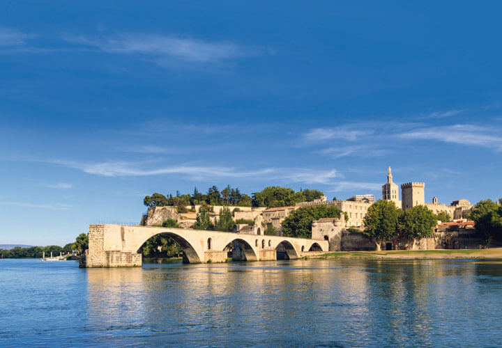 Rhone River in the daylight