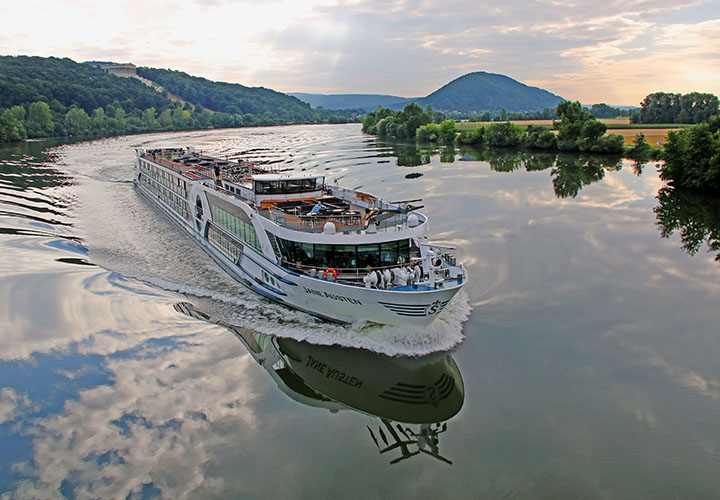 MS Jane Austen ship cruising Danube river