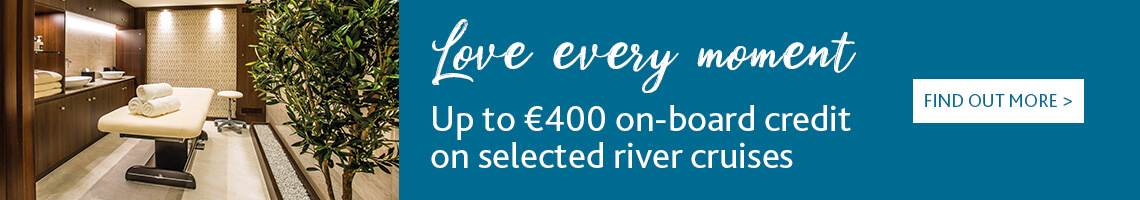 Get up to €400 on-board credit on selected river cruises