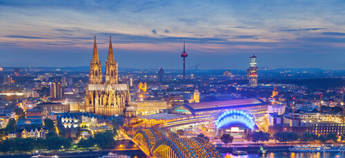 Cologne city at night