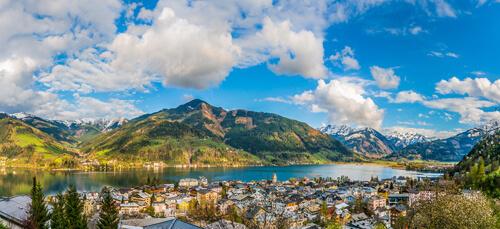 Scenic Austrian lakeside town