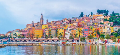 Colourful Menton on the French Riviera