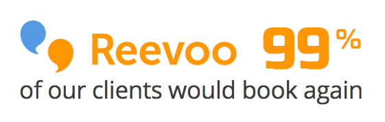 Reevoo 99% of our customers would book again