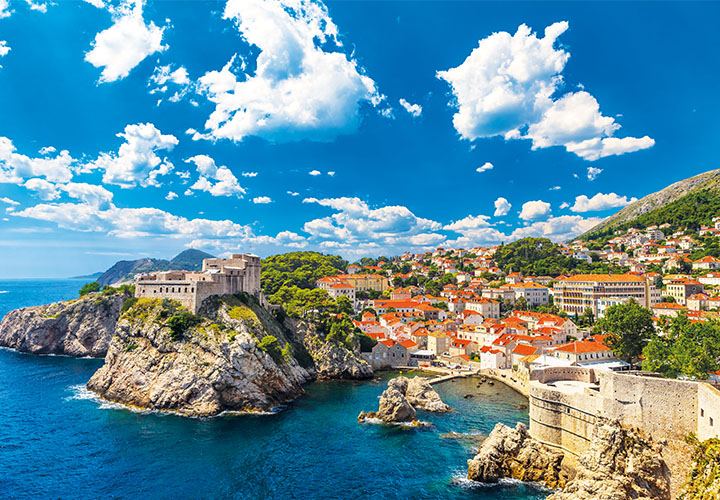 ~Dubrovnik coastline and sea