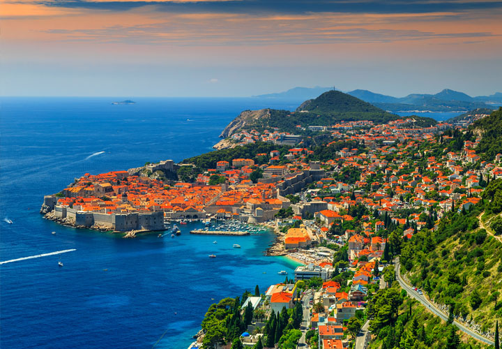 ~Dubrovnik coastline and sea