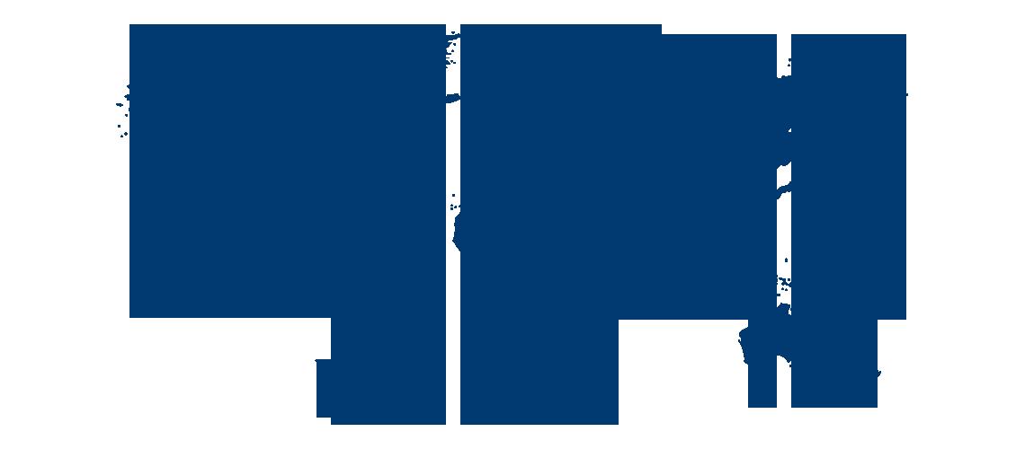 Dark blue world map with orange continent labels