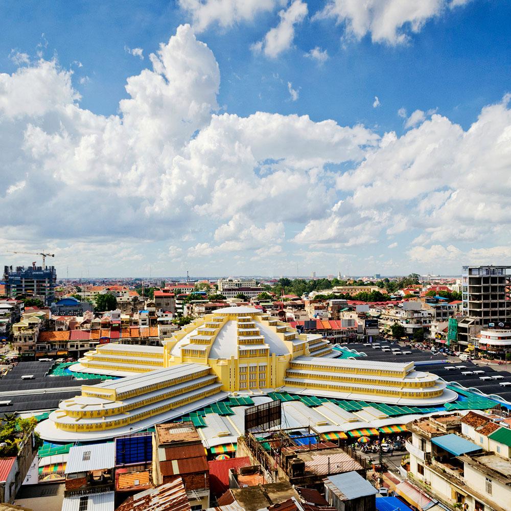 Phnom Penh indoor market