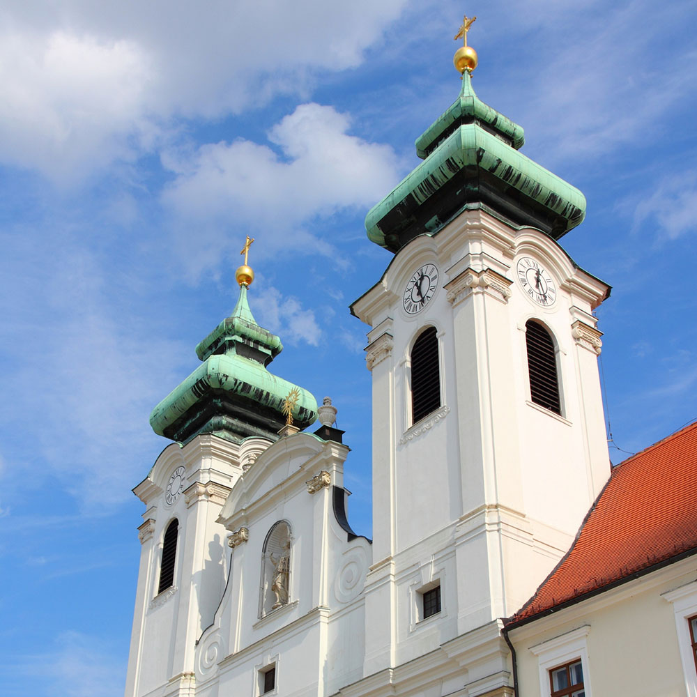 Bell towers of Saint Ignatius Church, Győr
