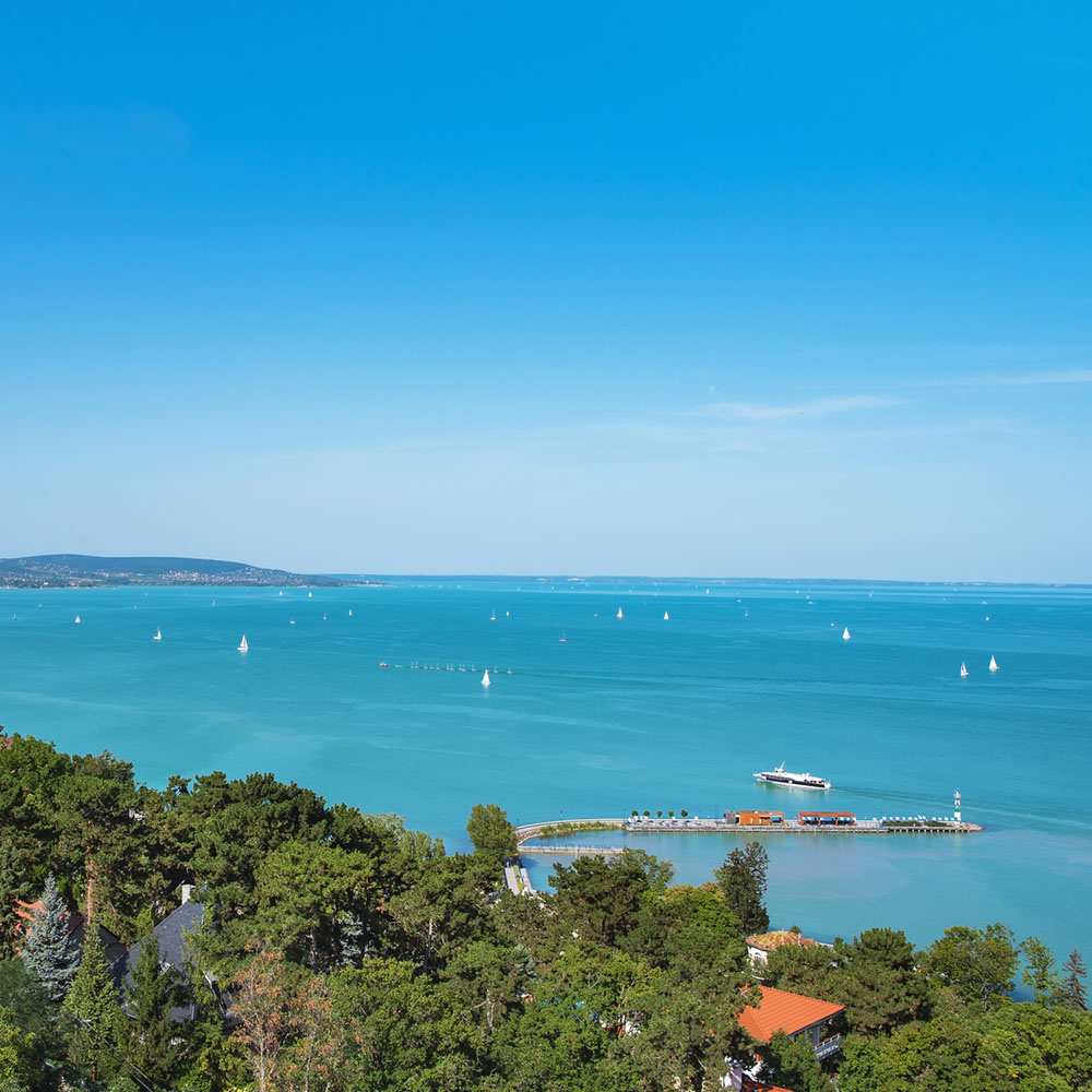 View of Lake Balaton from Tihany