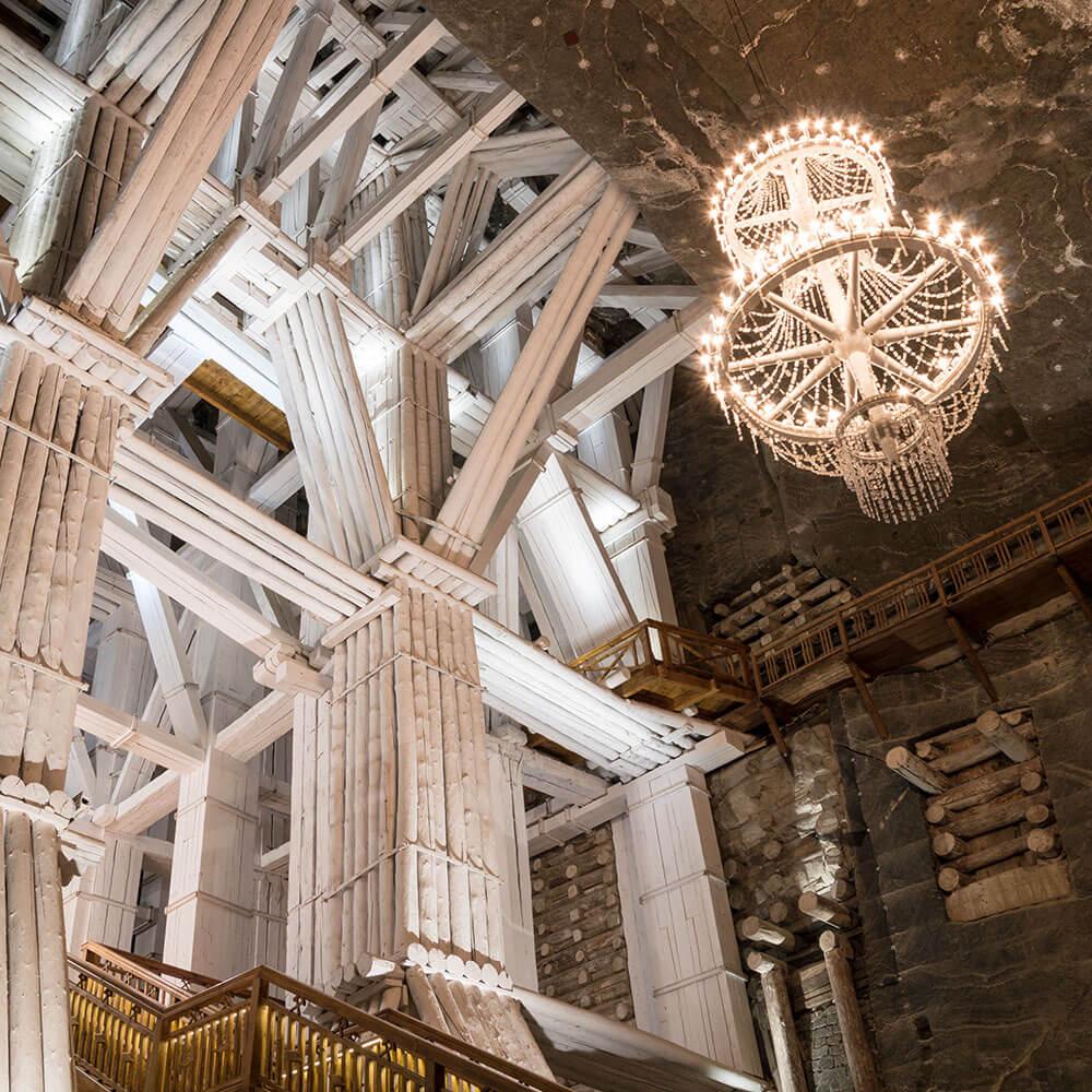 Underground chamber in the Wieliczka salt mines
