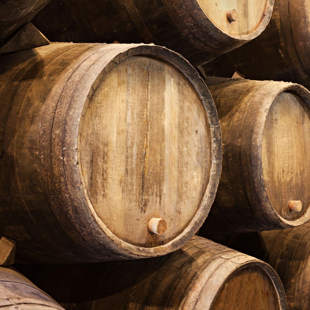Wine barrels in Porto