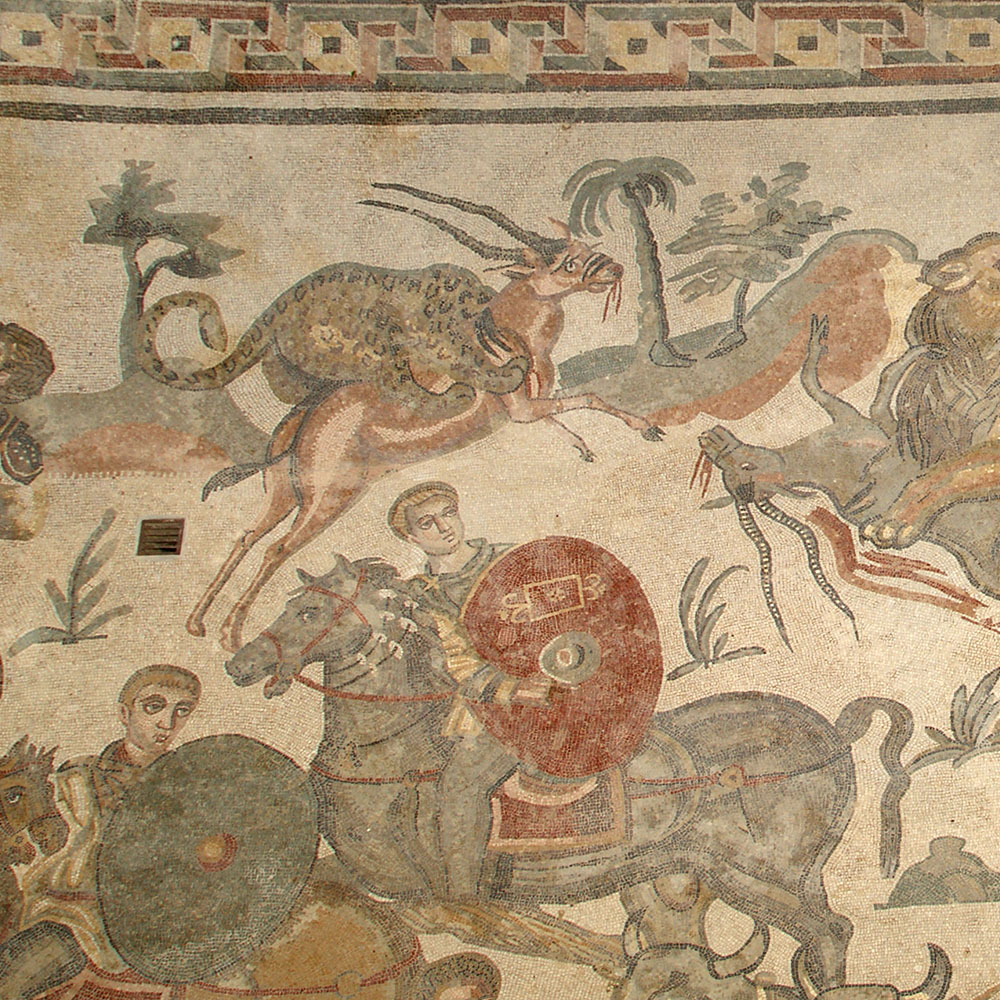Part of the Great Hunt mosaic, Villa Romana del Casale