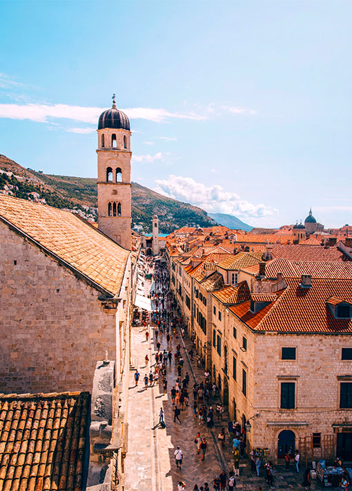 A view of the Old City of Dubrovnik, Croatia