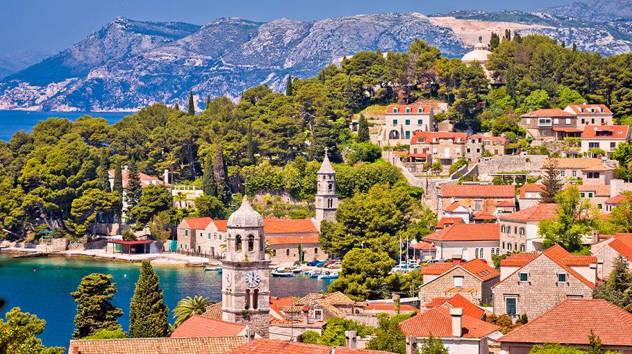 Town of Cavtat, waterfront view, South Dalmatia, Croatia