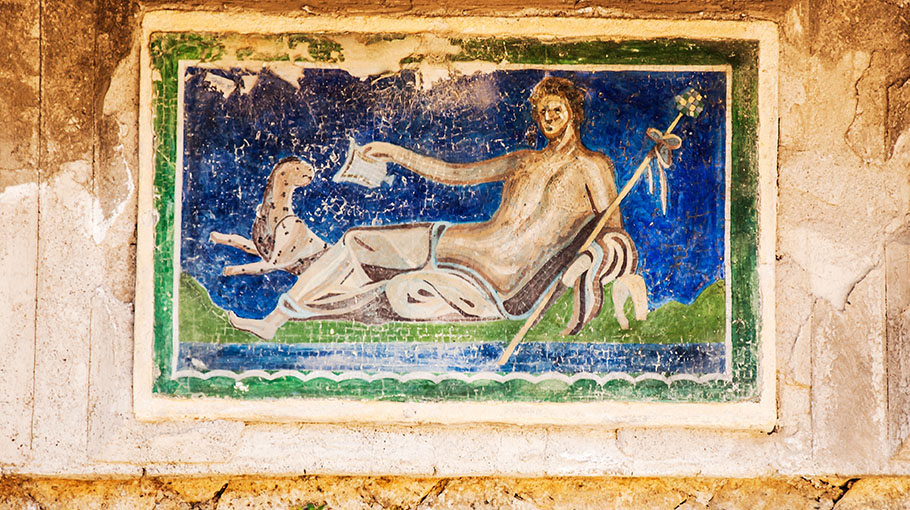 Artwork discovered in Herculaneum