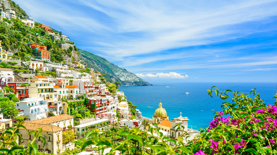 View of Positano on the Amalfi Coast