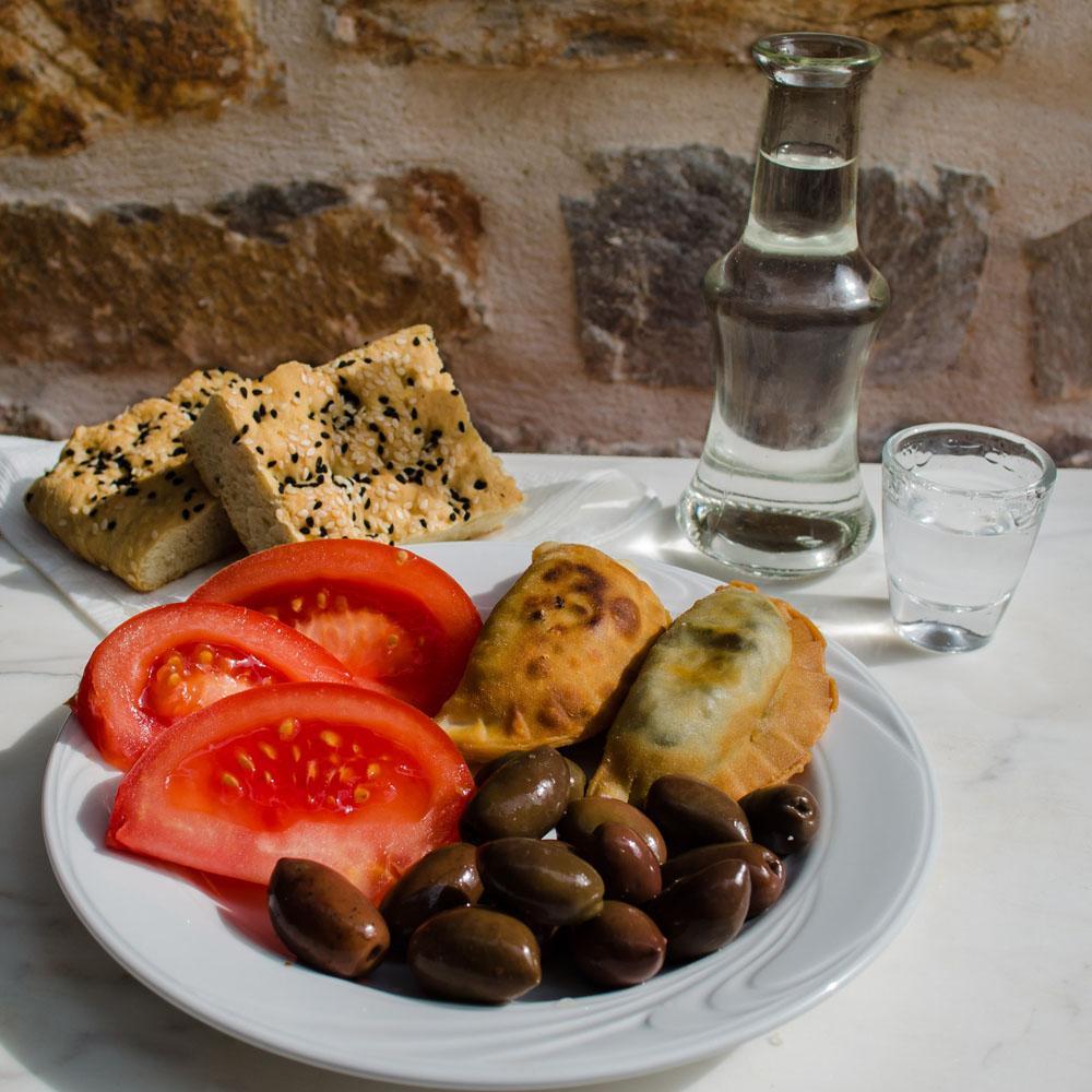 Raki & Typical Meze lunch (illustrative)