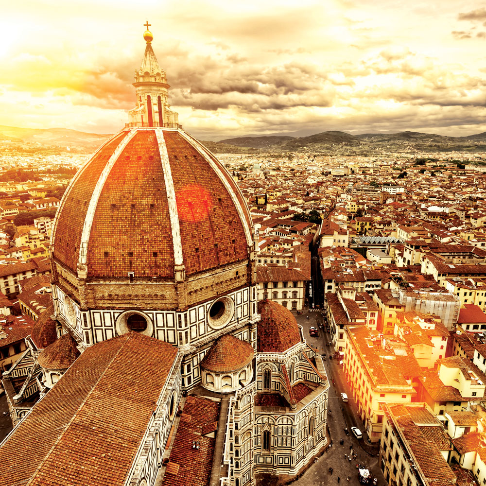 View from the Duomo's cupola and city, Florence