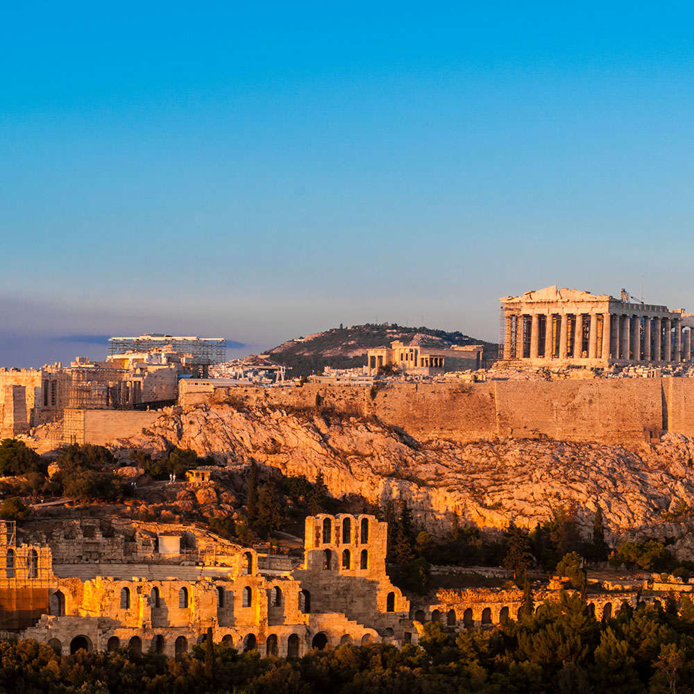 View of Acropolis Hill, Athens