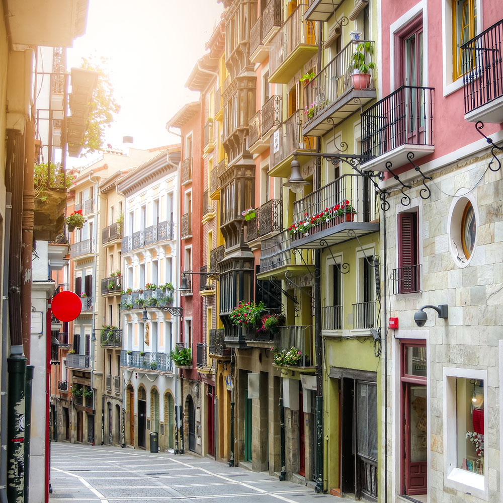 Picturesque street in Pamplona