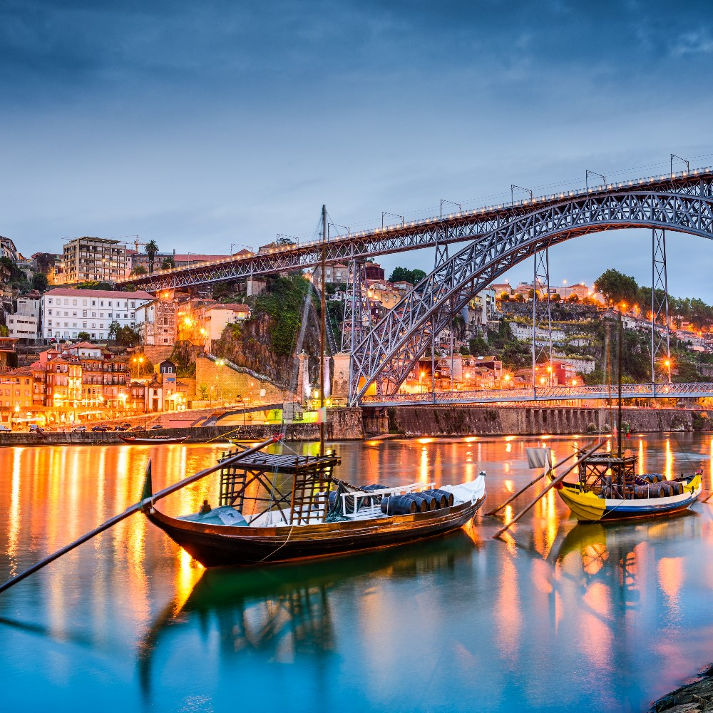 Oporto Bridge over the Douro river