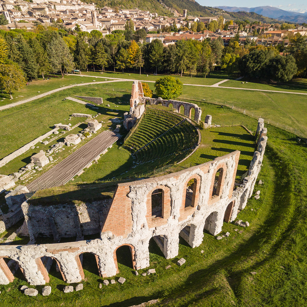 Roman amphitheatre ruins, Gubbio
