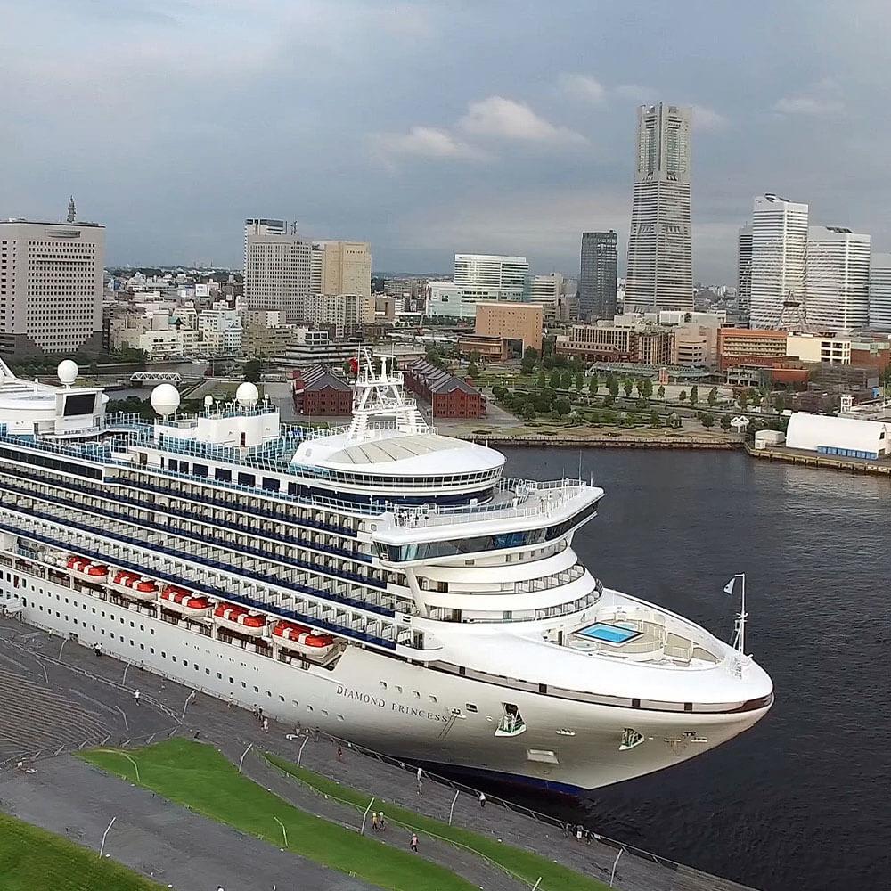 Diamond Princess in Yokohama