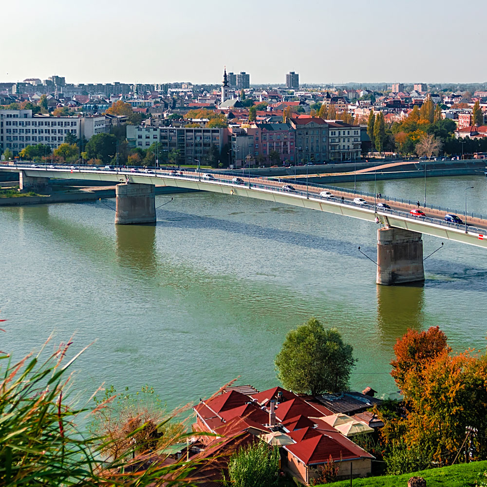 Bridge over the river, Novi Sad