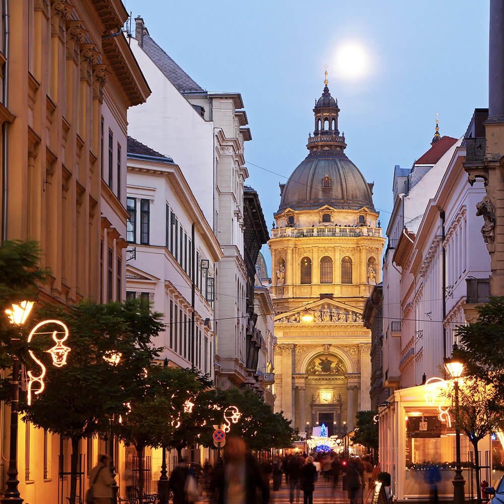 Budapest Christmas lights