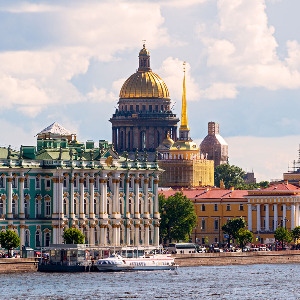 Hermitage Museum and St Isaac's Cathedral, St Petersburg