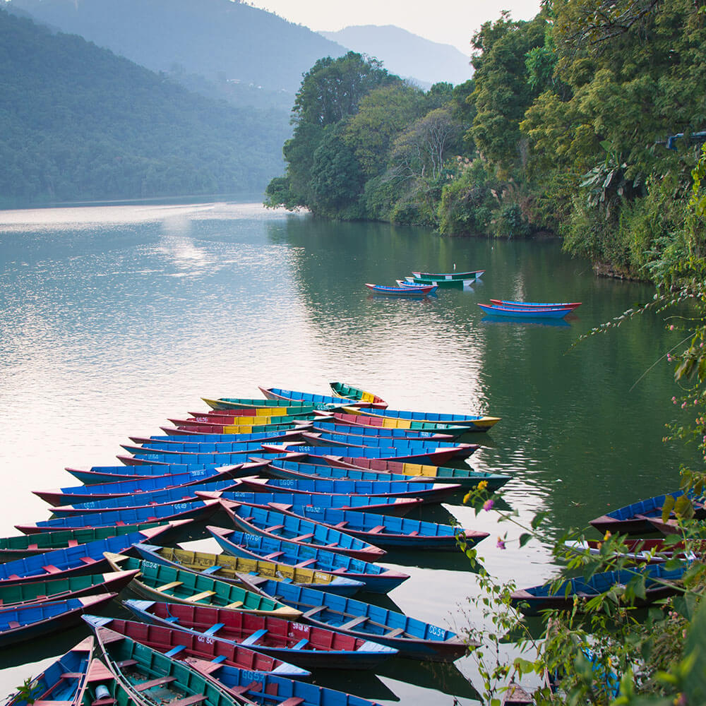 Wooden Boats in Phewa Lake