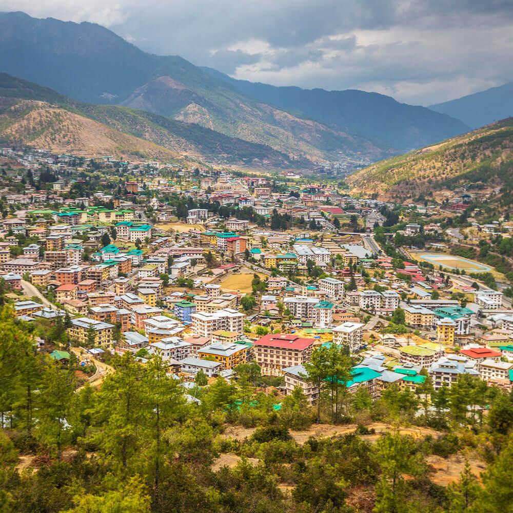 City of Thimphu Bhutan