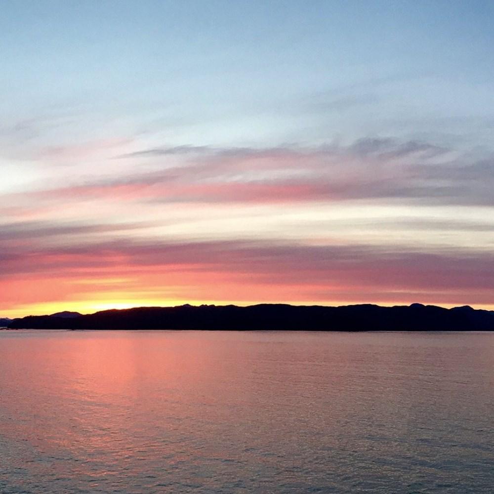 Inside Passage at sunset