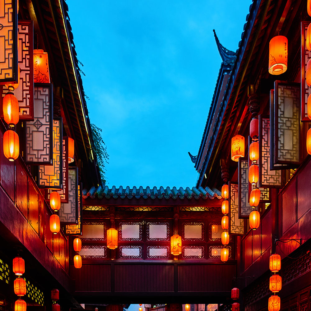 Lanterns on Jin Li Street, Chengdu