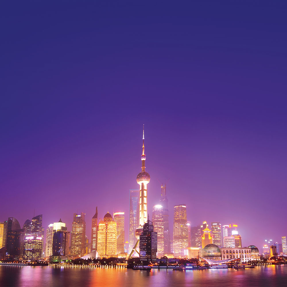 Shangai cityscape at night