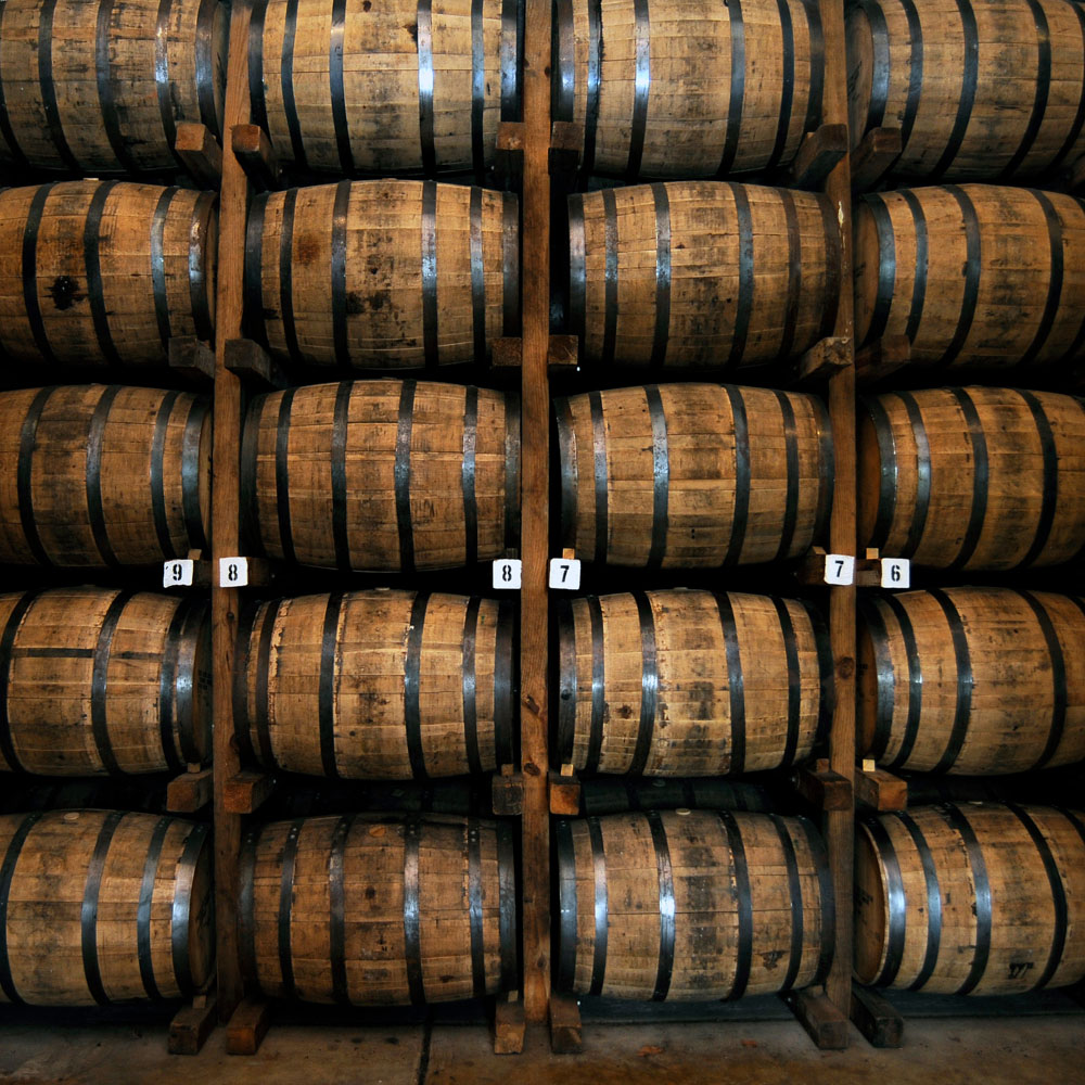 Whiskey barrels at the Jack Daniel Distillery, Lynchburg