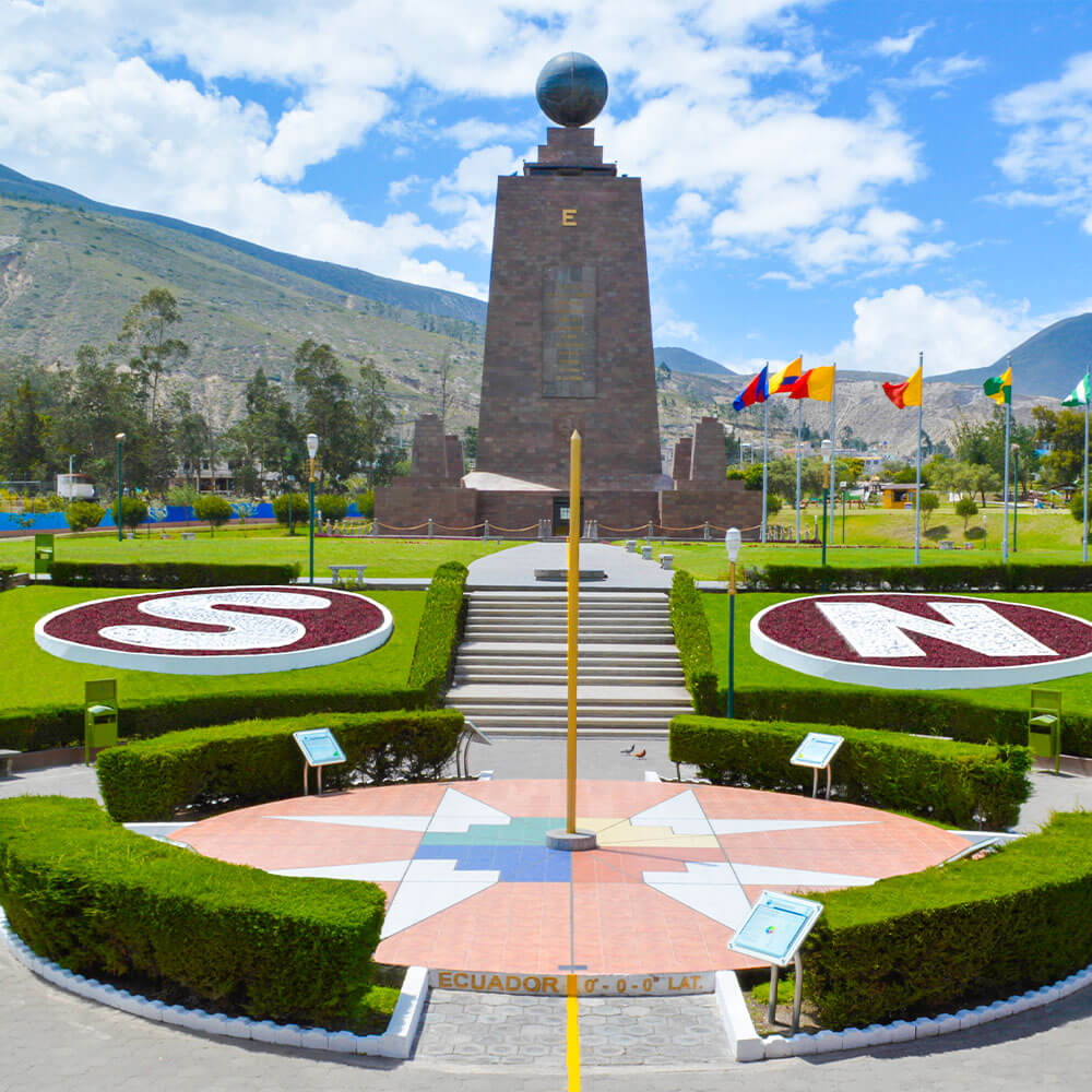 Ecuador Monument at the Equator line