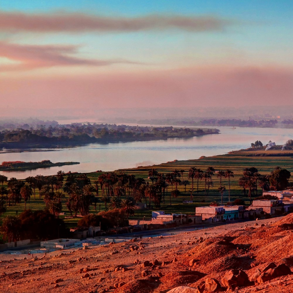 View of the Nile from Beni Hassan