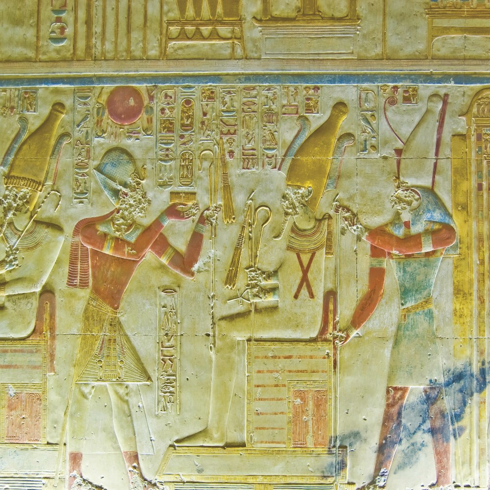 Carving of Seti and Osiris