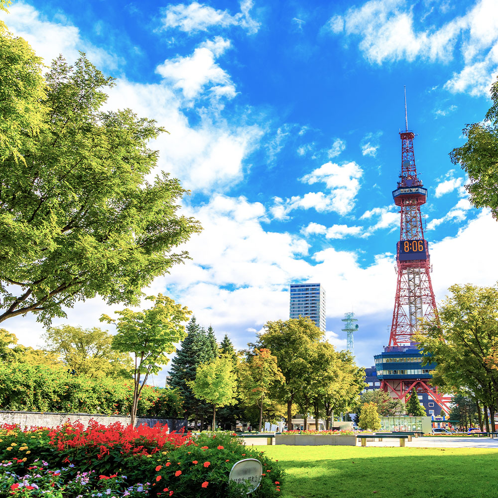 Sapporo TV Tower in Odori Park
