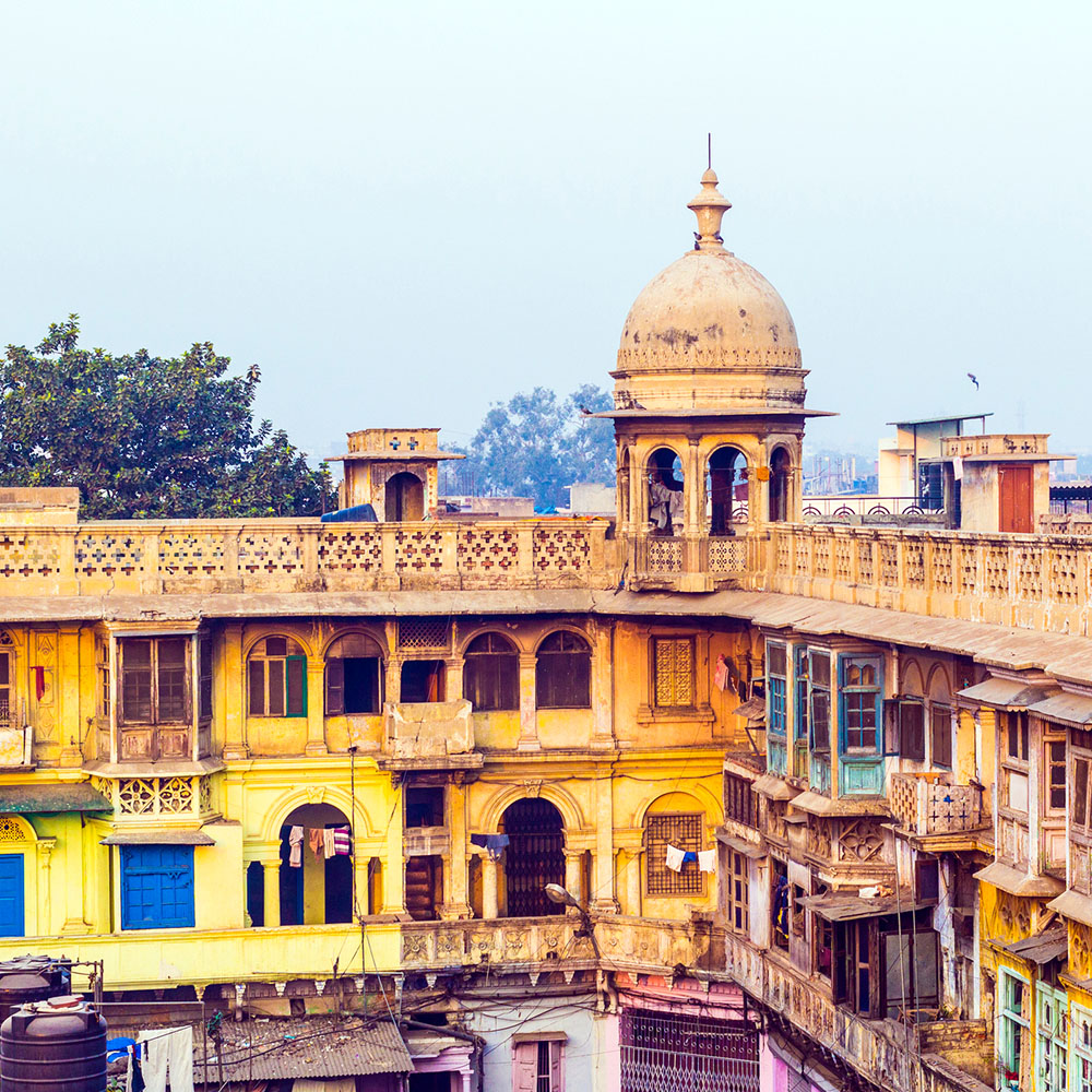 Typical houses in Delhi