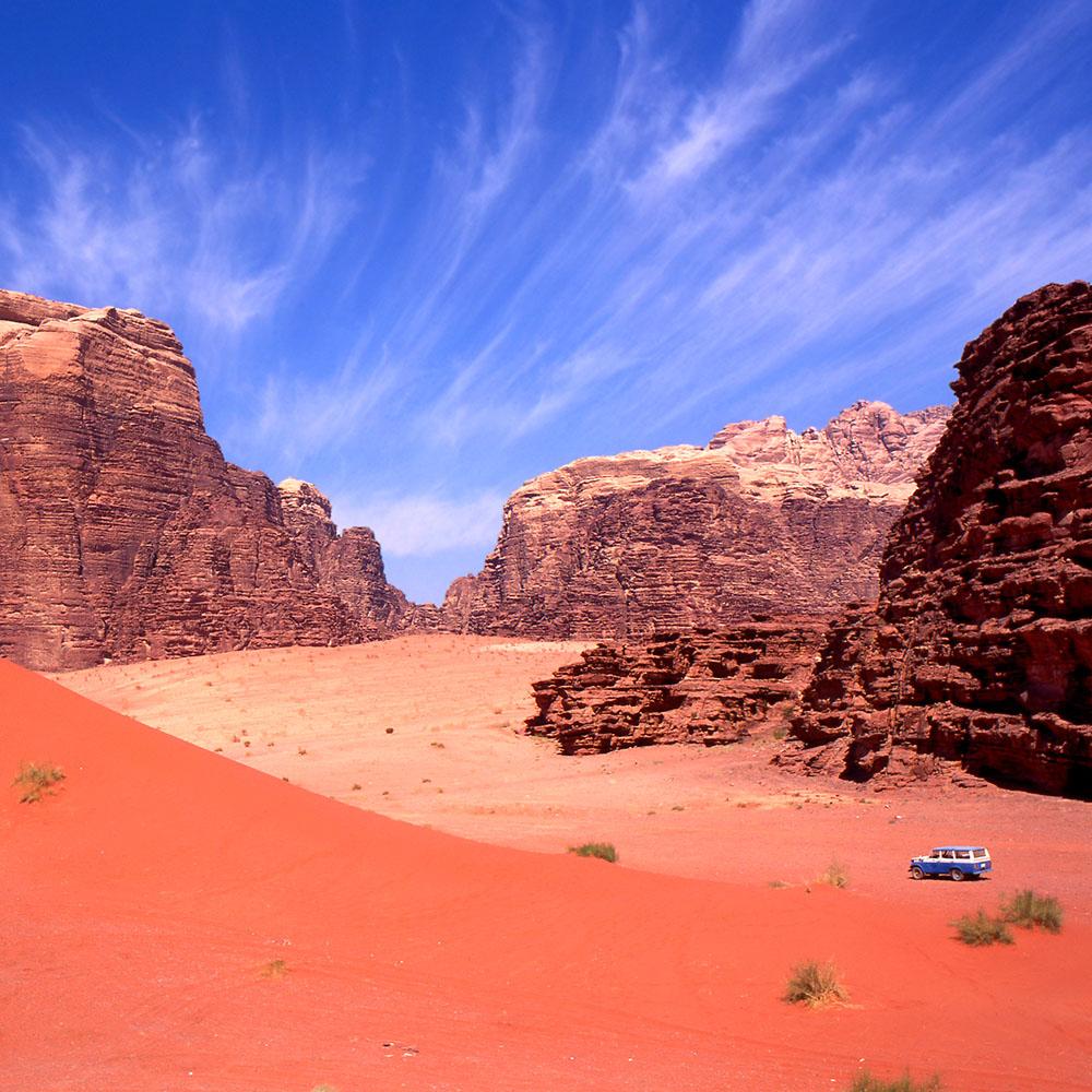Wadi Rum desert rocks