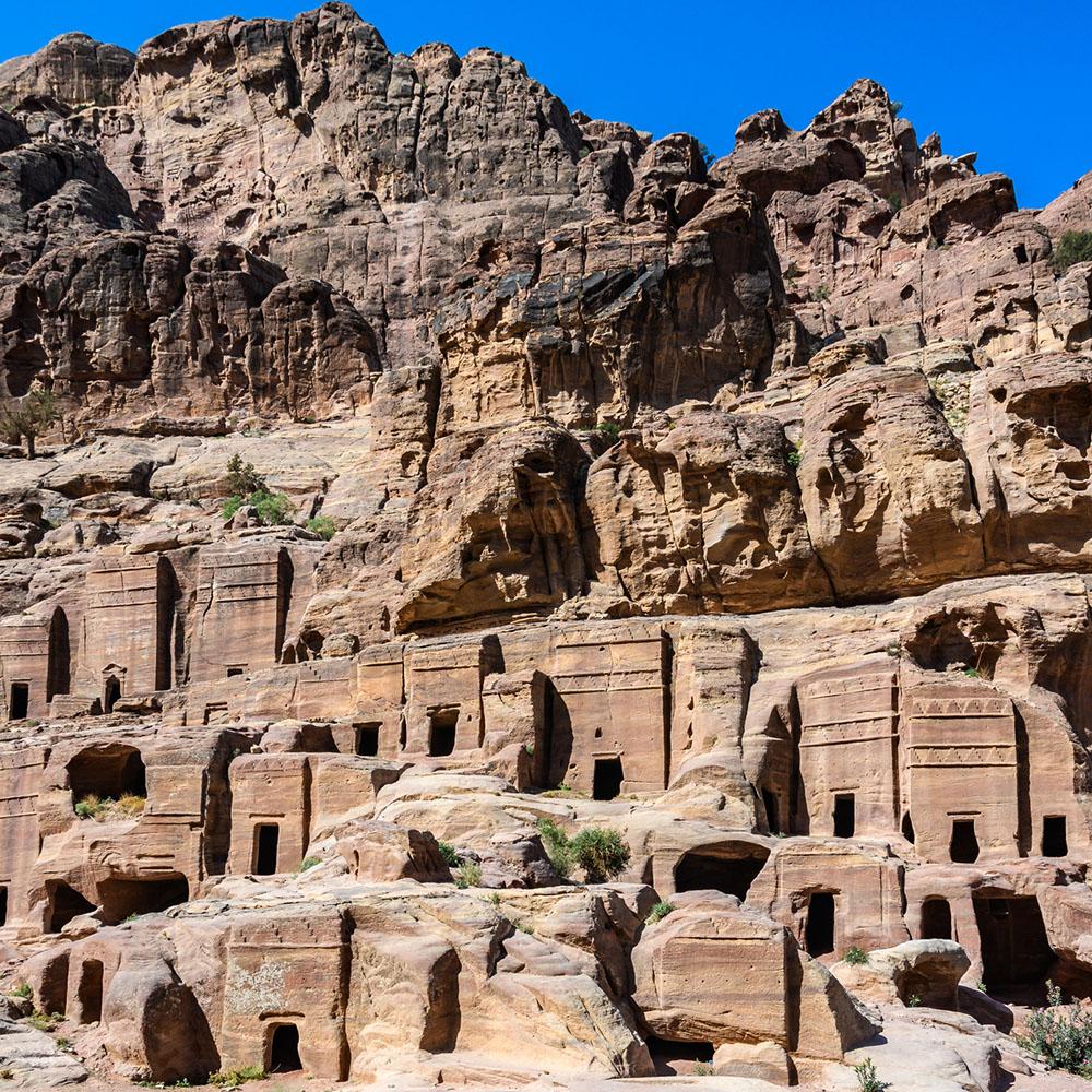 Little Petra street facades