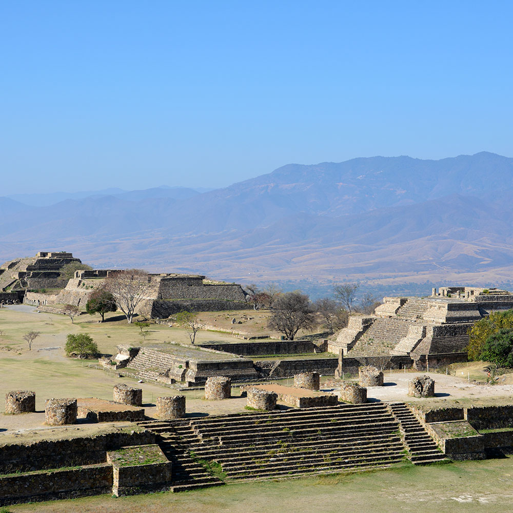 UNESCO World Heritage archaeological site of Monte Albán