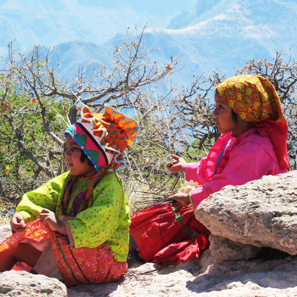Tarahumara children in Copper Canyon