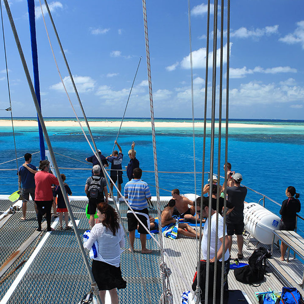 Boat to Michaelmas Cay, Great Barrier Reef